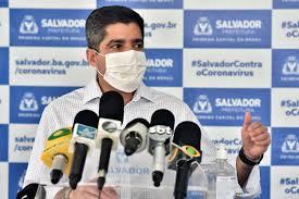 Prefeito de Salvador vai enviar projeto de lei á Câmara de Vereadores instituindo multa administrativa para motoristas e passageiros sem máscara nos veículos da cidade. Fiscalização seria feita por blitz de surpresa.