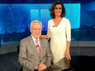 """Em áudio vazado, Giuliana Morrone critica ex-colega de TV Globo Alexandre Garcia, o compara a Regina Duarte e o chama de """"gagá e ridículo""""."""