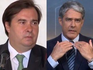 Presidente da Câmara dos Deputados, Rodrigo Maia mostrou incomodo ao ser repreendido pelo apresentador do Jornal Nacional, William Bonner. Veja.
