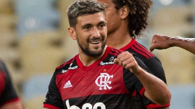 Time de Jorge Jesus vence fácil Bangu no retorno do Campeonato Carioca. Veja vídeos com gols de Arrascaeta, Bruno Henrique e Pedro Rocha.